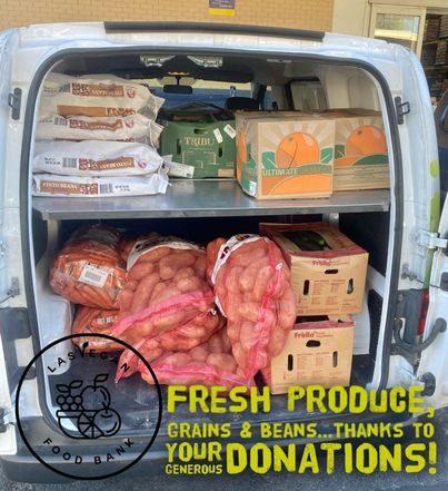 van full of fresh produce